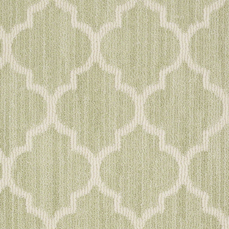 Shaw Rave Review Glen Green Rectangular Indoor Tufted Area Rug (Common: 6 x 9; Actual: 72-in W x 108-in L)