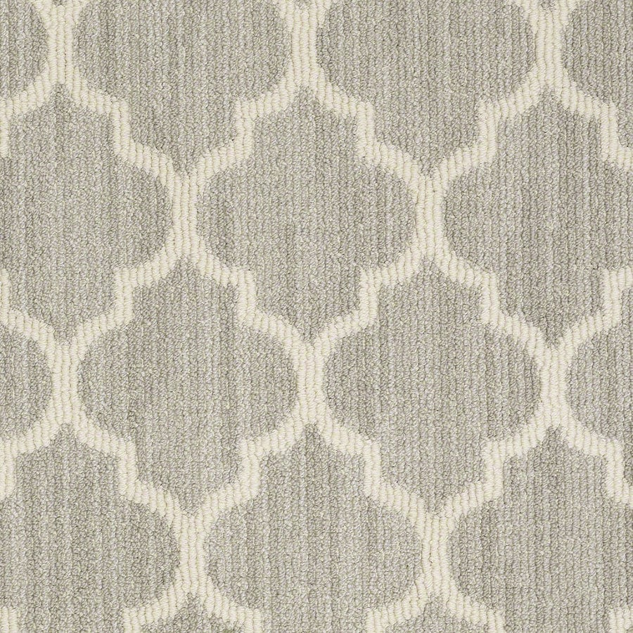 Shaw Rave Review Misty Dawn Rectangular Indoor Tufted Area Rug (Common: 6 x 9; Actual: 72-in W x 108-in L)