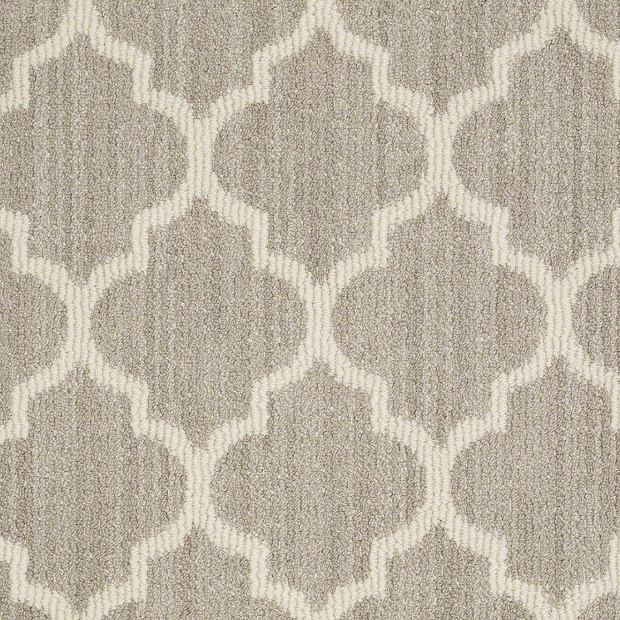 Shaw Rave Review Plaza Taupe Rectangular Indoor Tufted Area Rug (Common: 6 x 9; Actual: 72-in W x 108-in L)