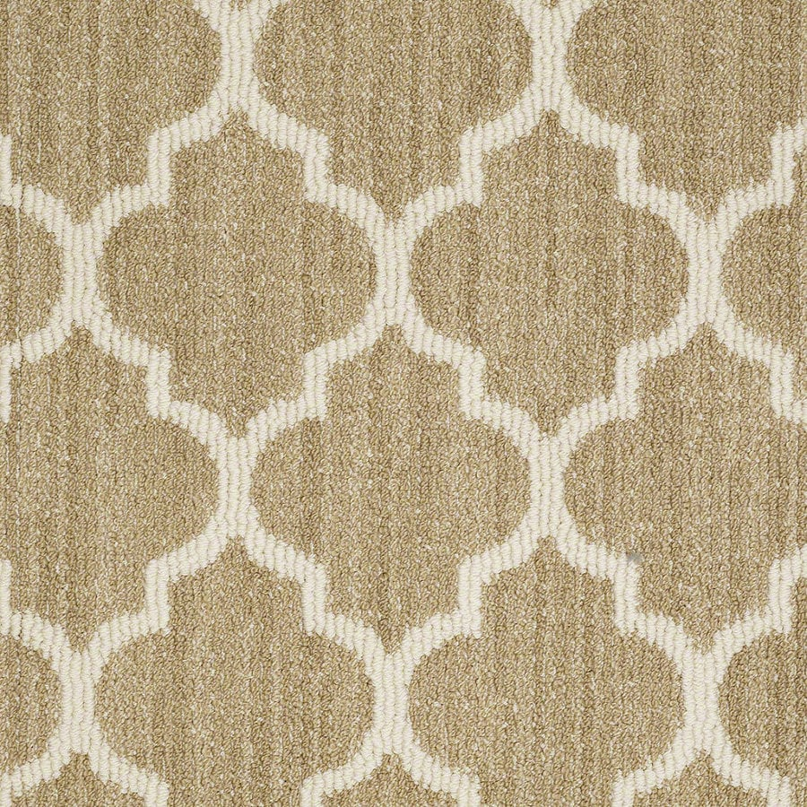 Shaw Rave Review Desert Tan Rectangular Indoor Tufted Area Rug (Common: 8 x 11; Actual: 96-in W x 132-in L)