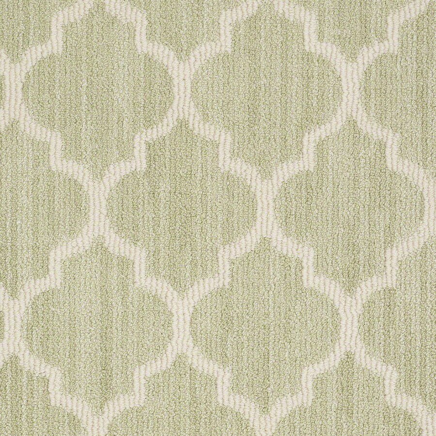 Shaw Rave Review Glen Green Rectangular Indoor Tufted Area Rug (Common: 8 x 11; Actual: 96-in W x 132-in L)