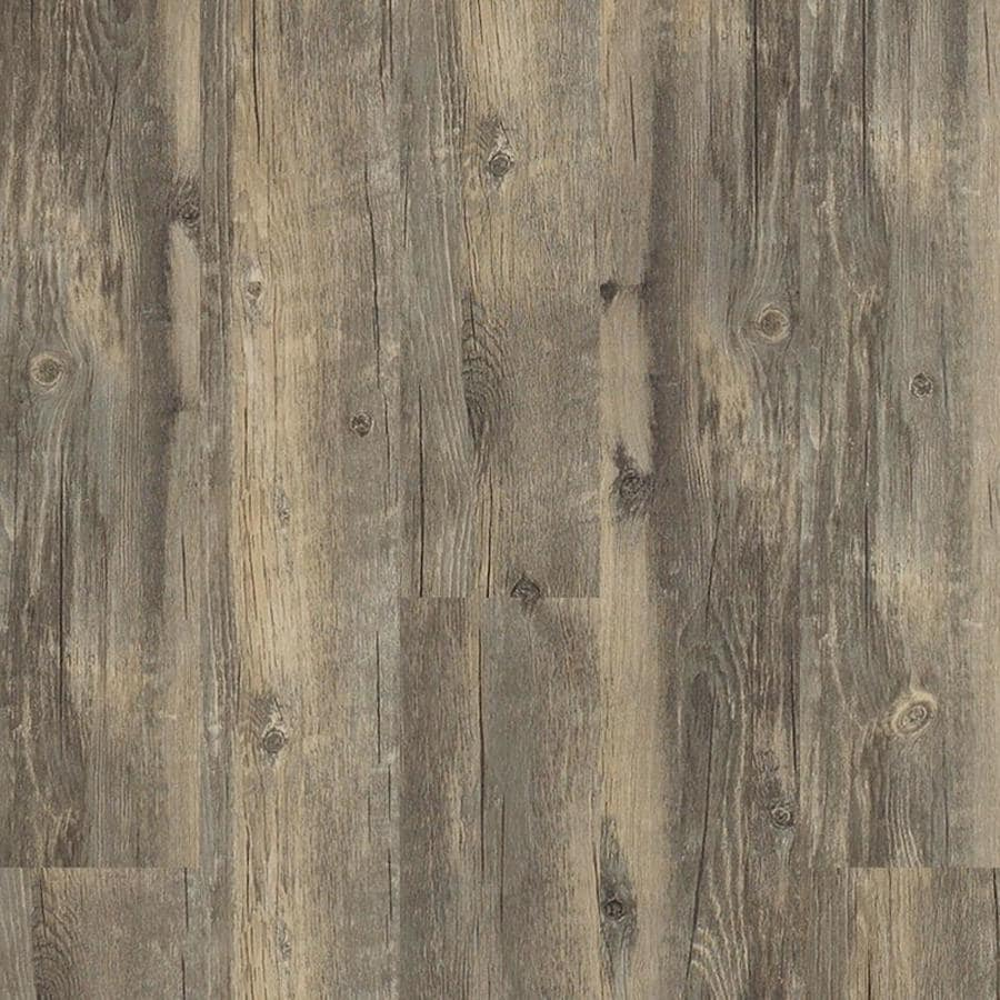 Linoleum Flooring Lowes >> Shop Shaw Matrix 14-Piece 5.9-in x 48-in Asheville Pine Floating Pine Luxury Plank Residential ...
