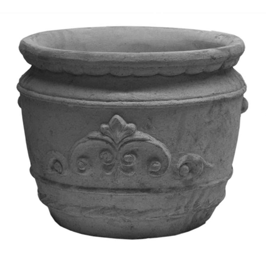 13-in H x 17-in W x 16-in D Ap Concrete Outdoor Planter