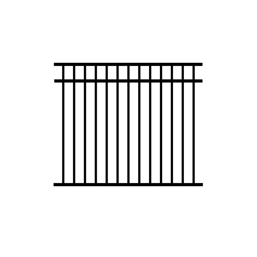 Jerith Black Aluminum Decorative Metal Fence Panel