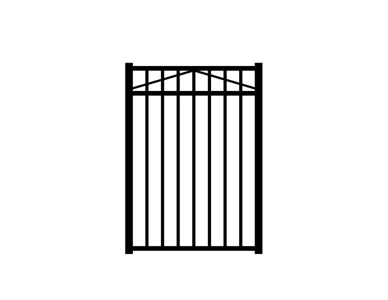 Jerith Black Metal Decorative Fence Gate