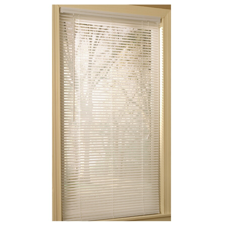 Project Source 1-in White Vinyl Light Filtering Mini-Blinds (Common 31-in; Actual: 30.5-in x 75-in)