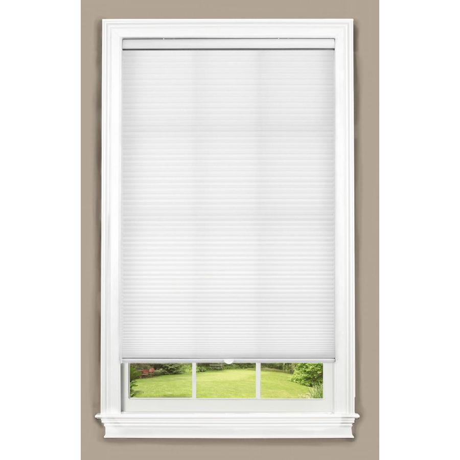 allen + roth White Light Filtering Cordless Polyester Cellular Shade (Common 27-in; Actual: 27-in x 72-in)
