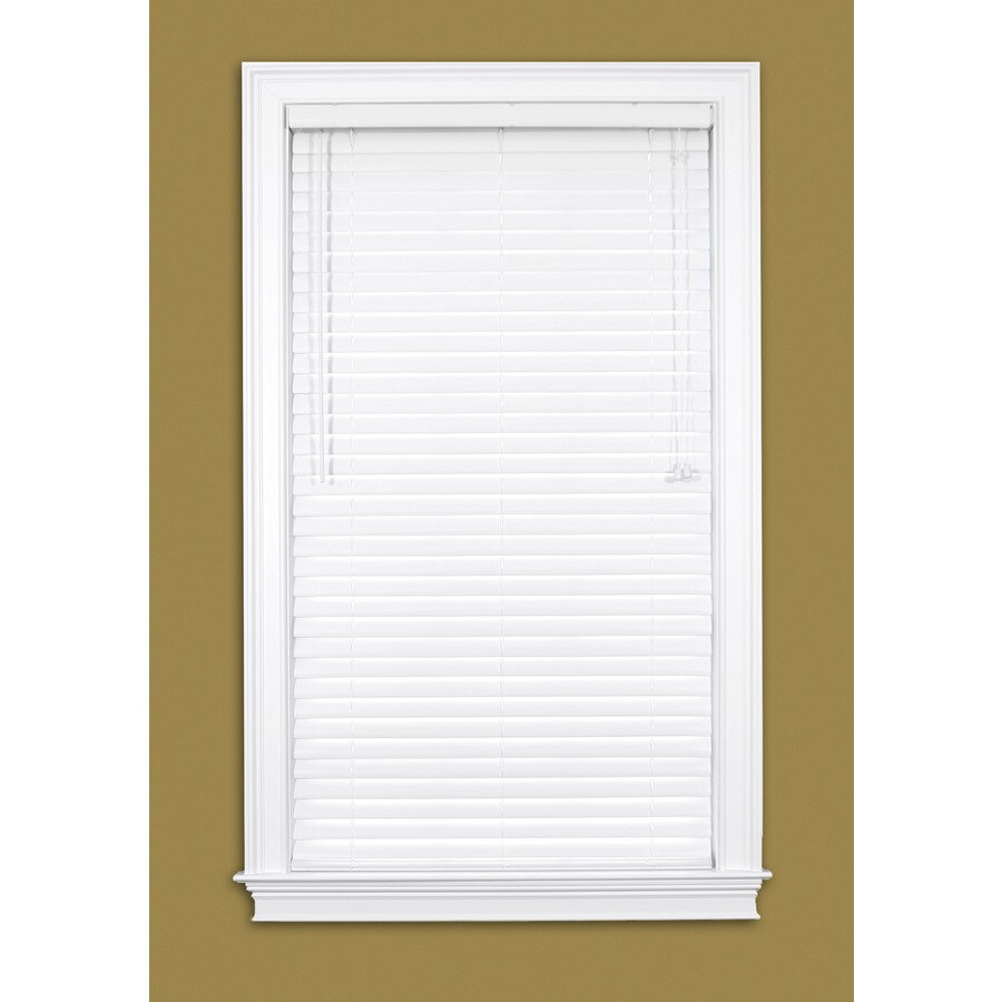 Style Selections 2-in White Vinyl Room Darkening Horizontal Blinds (Common 31-in; Actual: 30.5-in x 64-in)