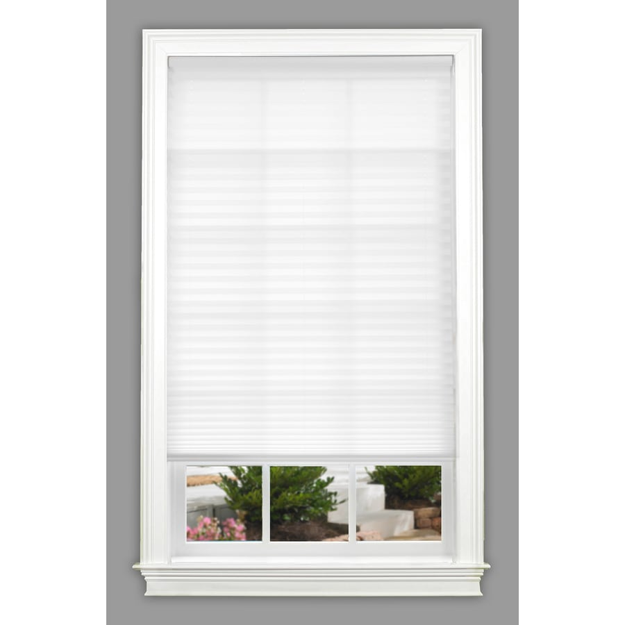 allen + roth 30-in W x 64-in L White Light Filtering Pleated Shade