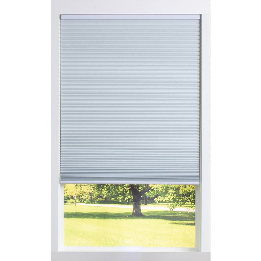 allen + roth 64-in L White Blackout Cellular Shade