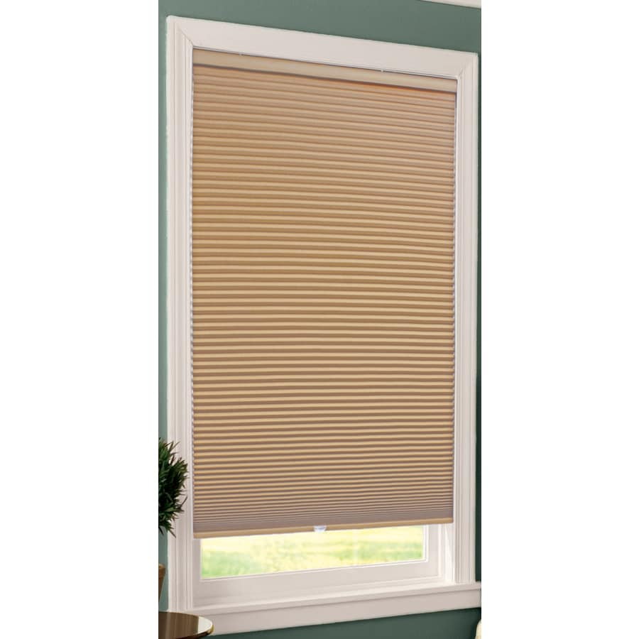 allen + roth Khaki Blackout Cordless Polyester Cellular Shade (Common 29-in; Actual: 29-in x 64-in)
