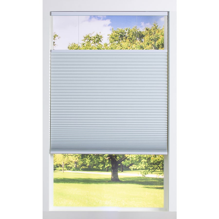 allen + roth 57.5-in W x 72-in L White Blackout Cellular Shade