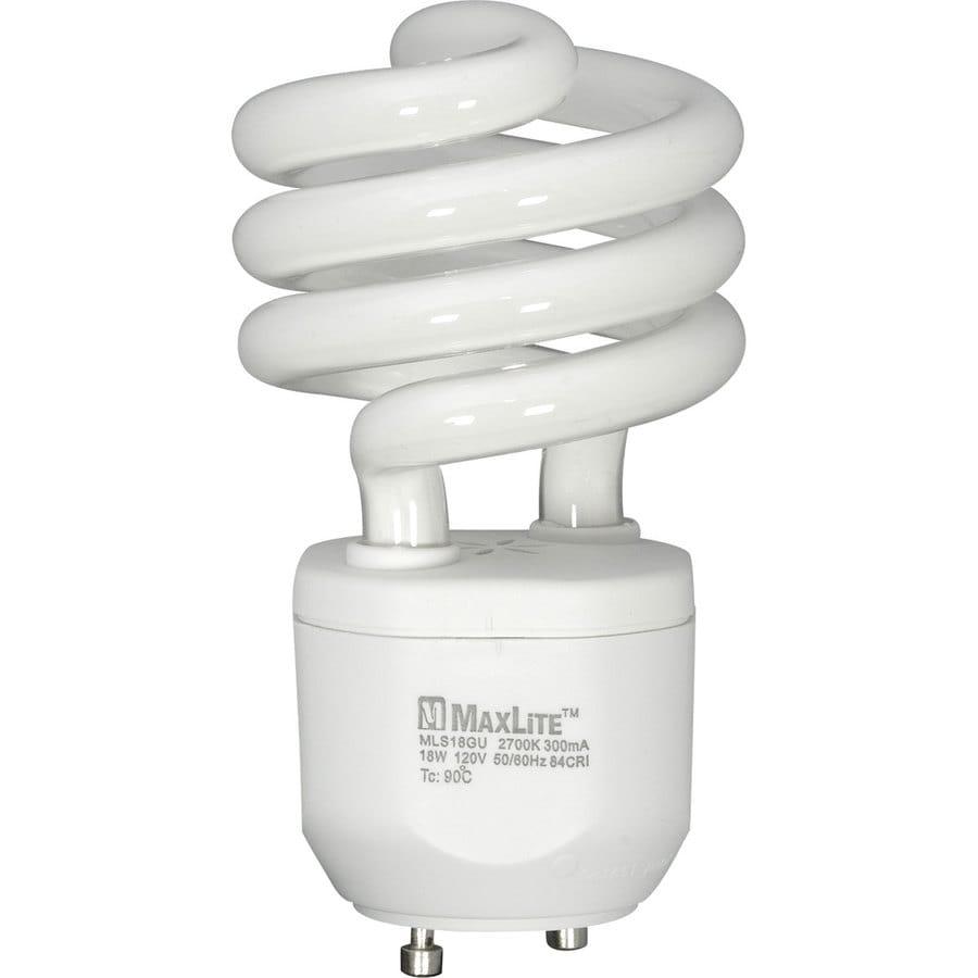 MAXLITE 18-Watt (75W Equivalent) 2,700K Spiral GU24 Pin Base Soft White CFL Bulb ENERGY STAR