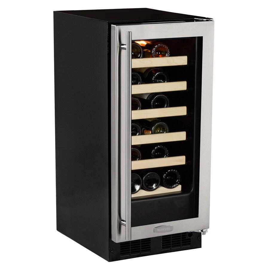 MARVEL 23-Bottle Stainless Steel Built-In/Freestanding Wine Chiller