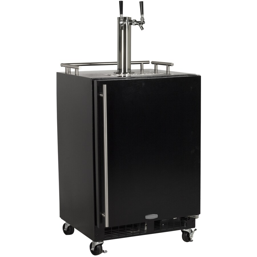 MARVEL Half-Barrel Keg Black Digital Freestanding Kegerator