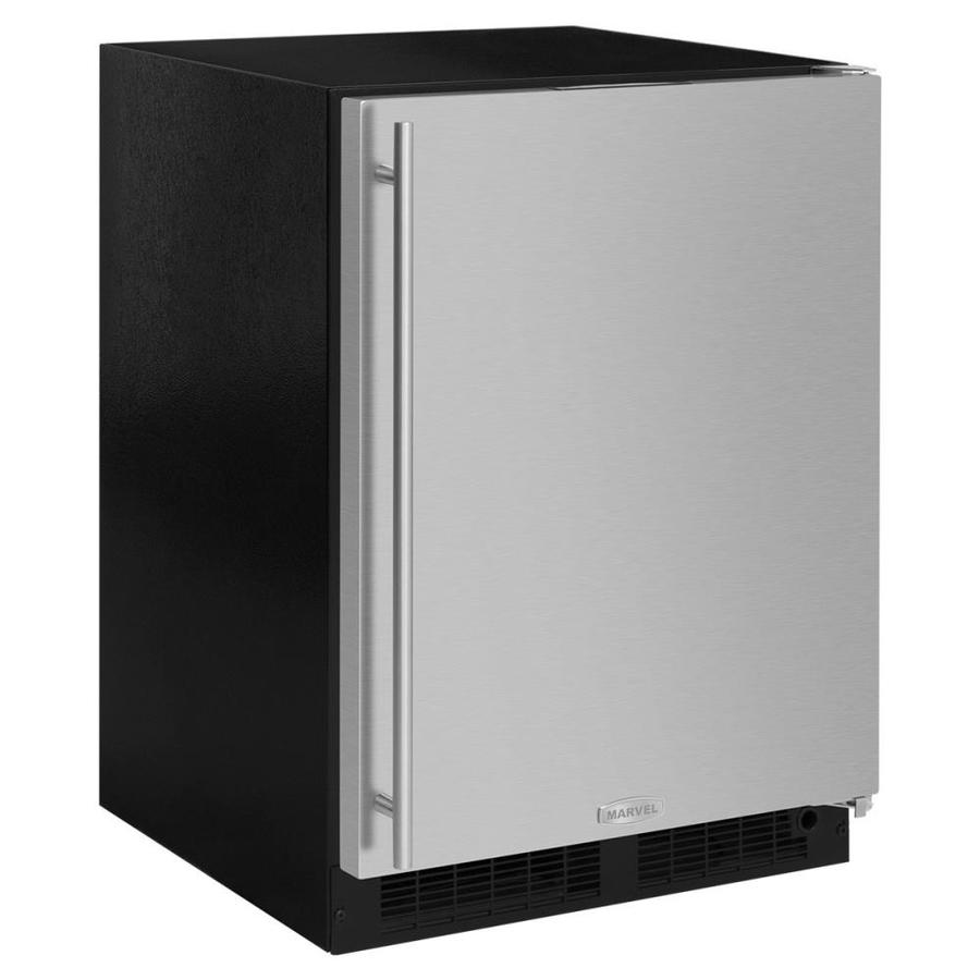 MARVEL 5.1-cu ft Counter-Depth Built-In/Freestanding Compact Refrigerator (Stainless Steel) ENERGY STAR