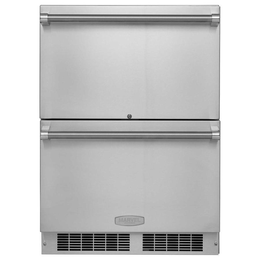 MARVEL 23.875-in Built-In/Freestanding Drawer Refrigerator (Stainless Steel)