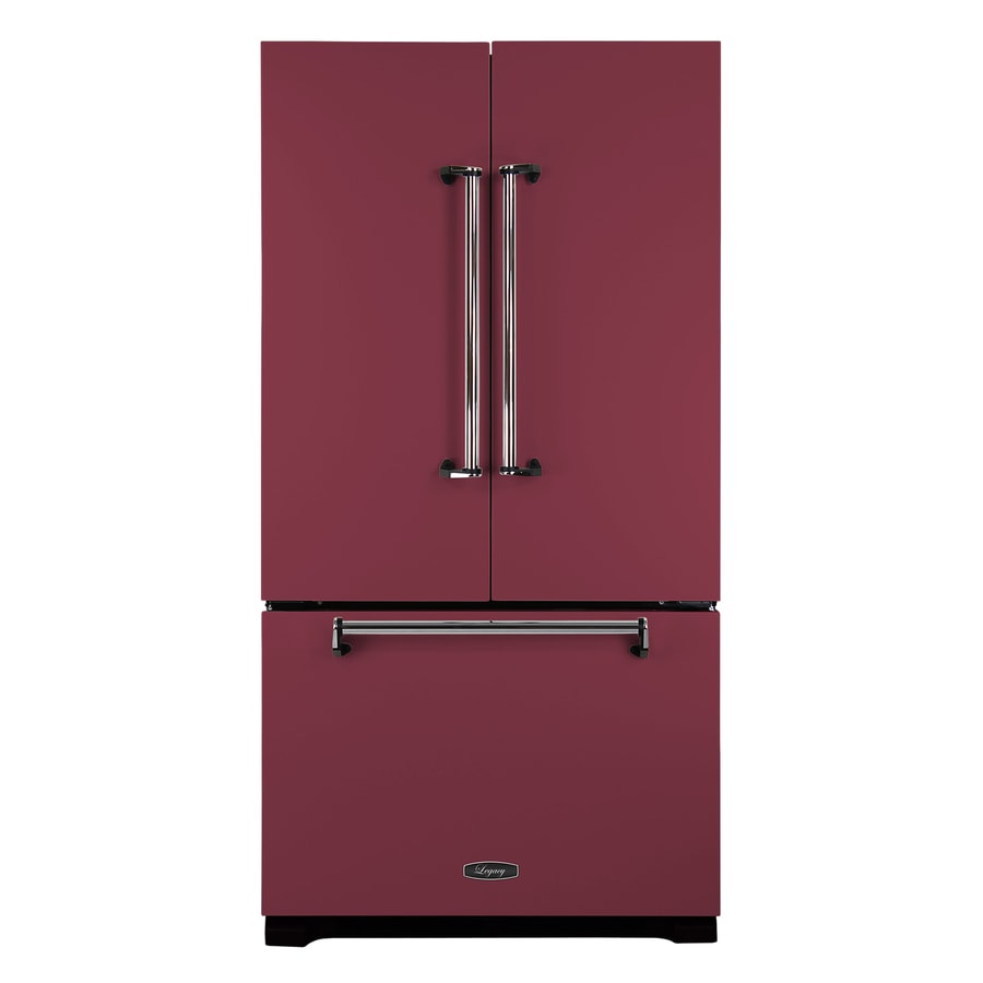 AGA Legacy 22.6-cu ft Counter-Depth French Door Refrigerator with Single Ice Maker (Cranberry) ENERGY STAR