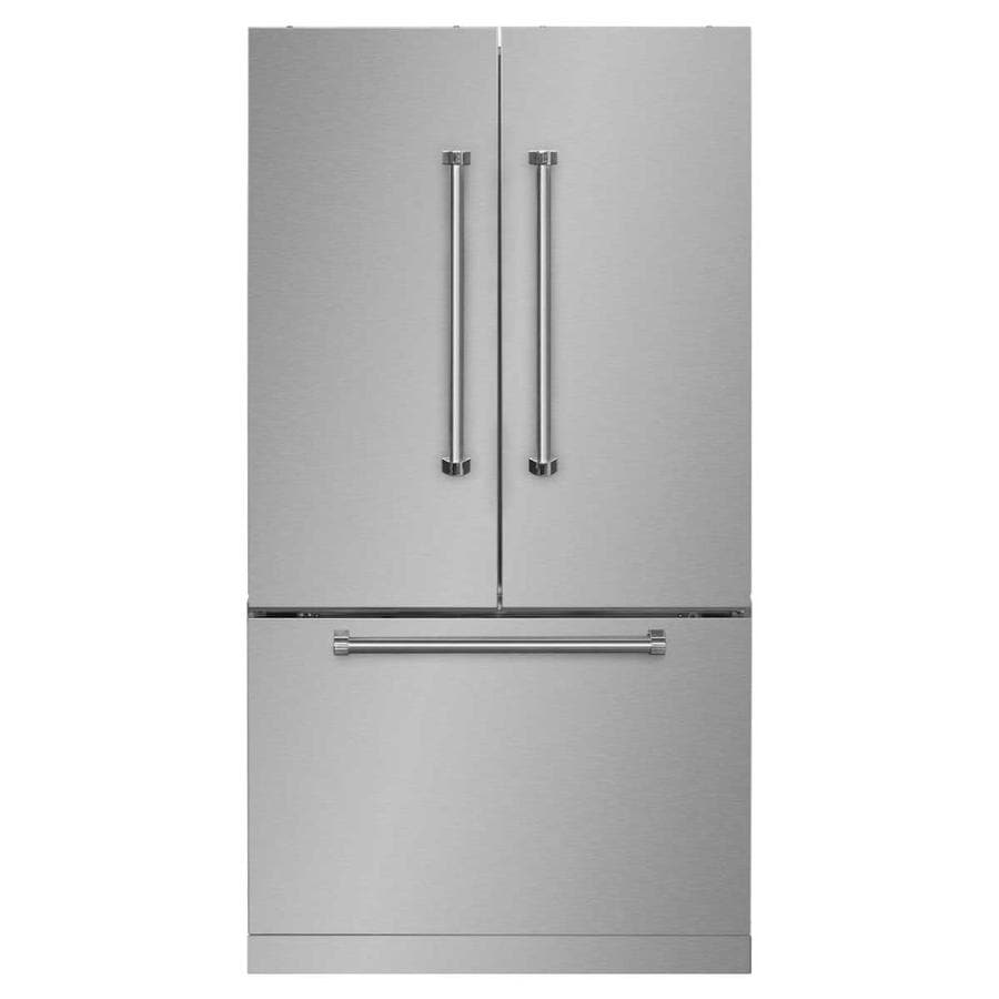 AGA Professional 22.6-cu ft Counter-Depth French Door Refrigerator with Single Ice Maker (Stainless Steel) ENERGY STAR