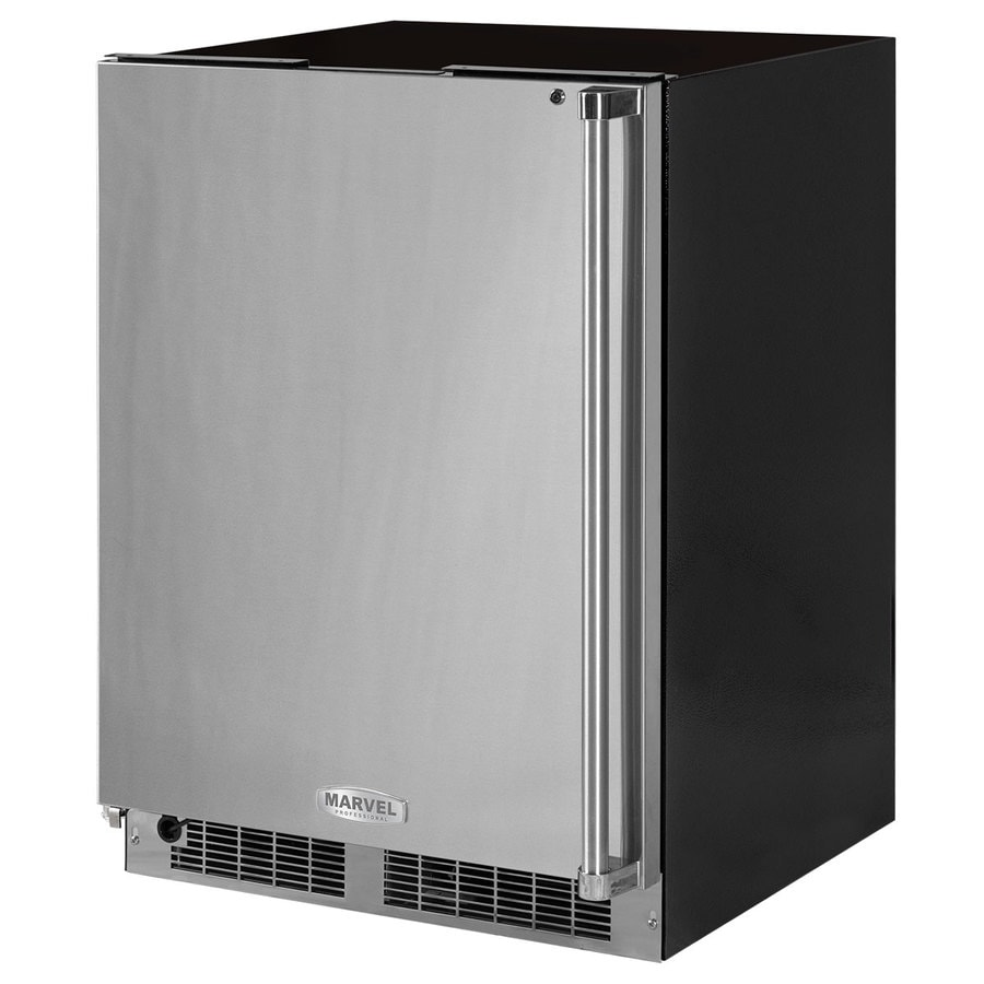 MARVEL Professional 4.6-cu ft Frost-Free Upright Freezer (Stainless Steel) ENERGY STAR