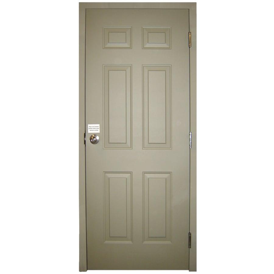 Milliken 6-Panel Prehung Entry Door (Common: 32-in x 80-in; Actual: 32-in x 80-in)