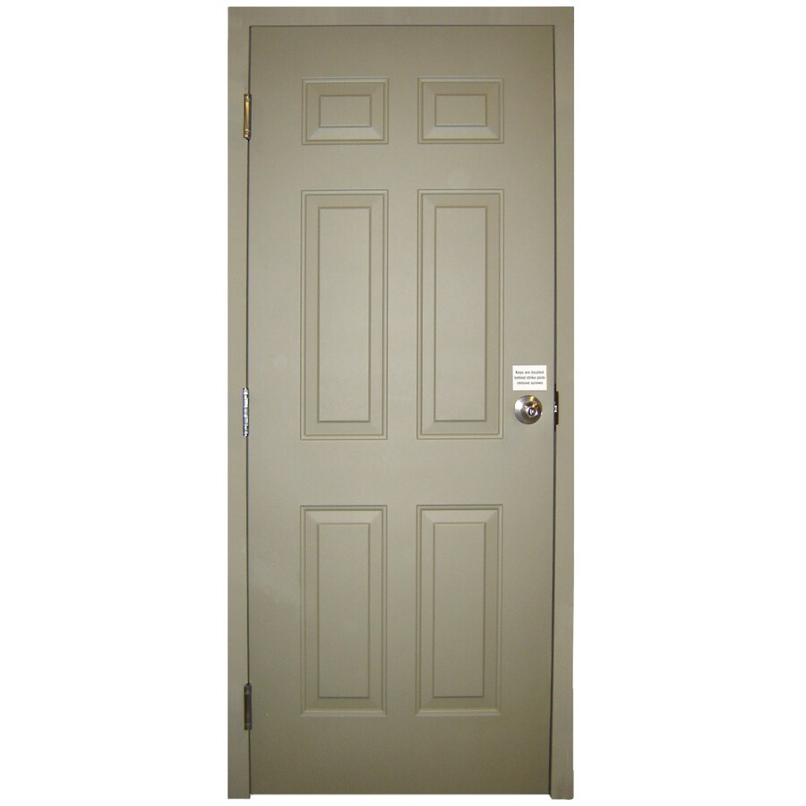 Milliken 6-Panel Prehung Entry Door (Common: 32-in x 80-in; Actual: 32-in x 80-in)