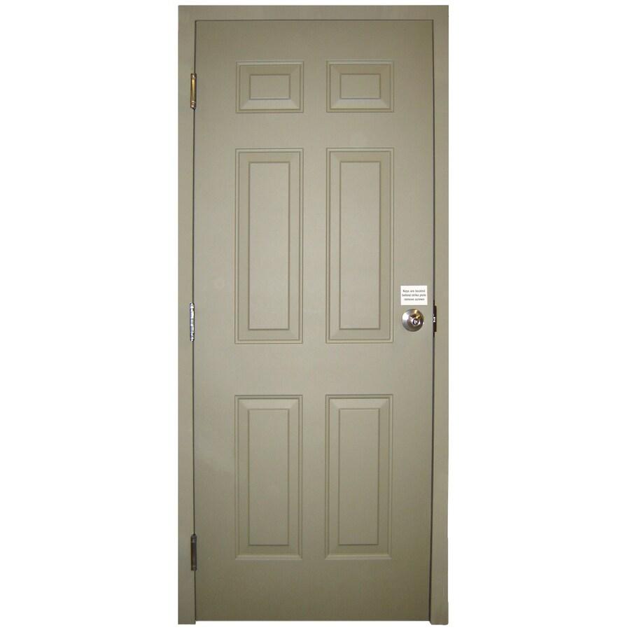 Milliken 6-Panel Prehung Entry Door (Common: 34-in x 80-in; Actual: 34-in x 80-in)