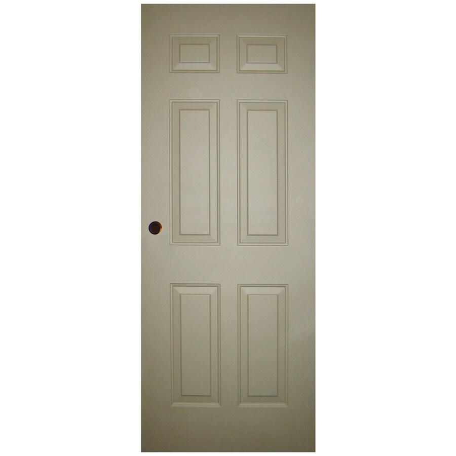 Milliken 6-Panel Slab Entry Door (Common: 34-in x 80-in; Actual: 34-in x 80-in)