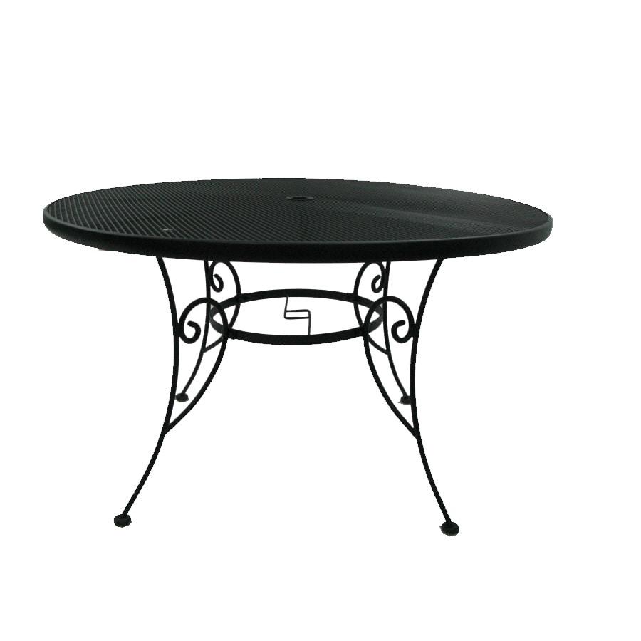 Garden Treasures Hanover 48.14-in x 48.14-in Steel Round Patio Dining Table