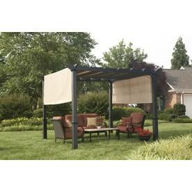 Shop Garden Treasures Matte Black Steel Freestanding ...