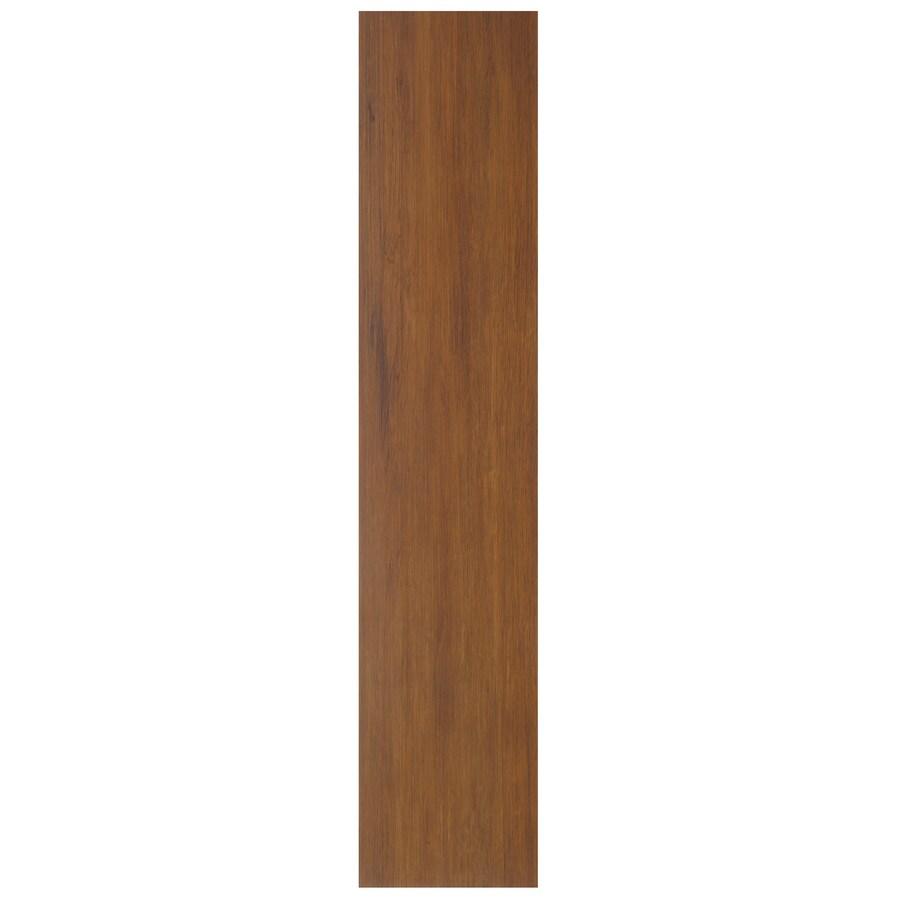 Interceramic Oakwood 12-Pack Bronze Wood Look Ceramic Floor Tile (Common: 5-in x 24-in; Actual: 5.51-in x 23.62-in)