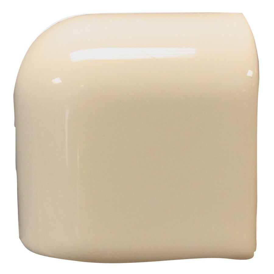 Interceramic Tender Tan Ceramic Mud Cap Corner Tile (Common: 2-in x 2-in; Actual: 2-in x 2-in)