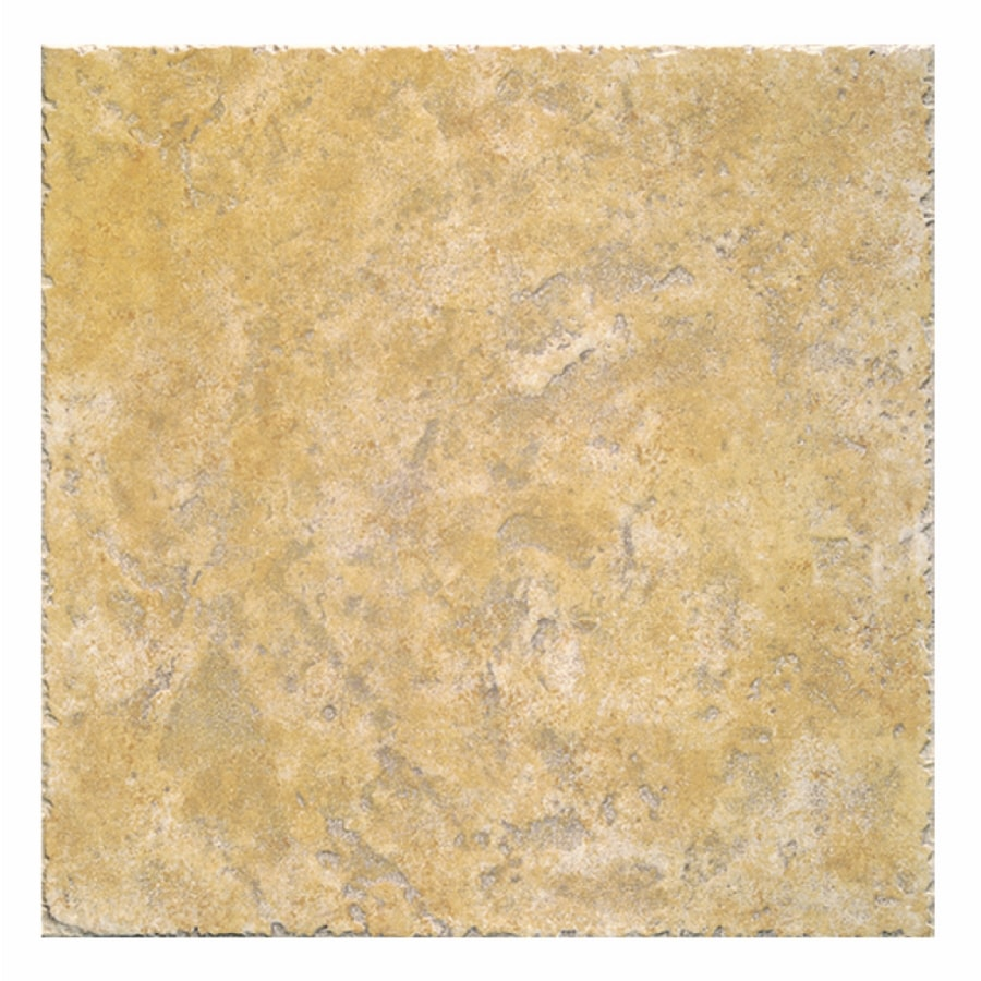 Interceramic 16-Pack 12-in x 12-in Creekstone Gold Ceramic Floor Tile