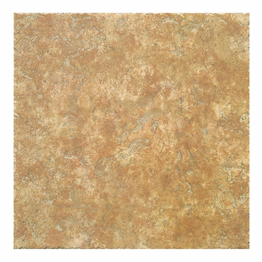 Interceramic 16-Pack 12-in x 12-in Creekstone Terra Cotta Ceramic Floor Tile