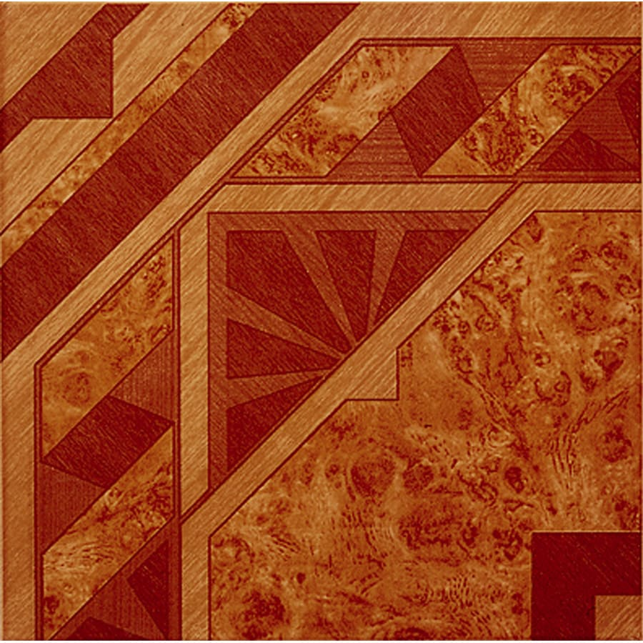 Style Selections 13-in x 13-in Andes Red Ceramic Floor Tile