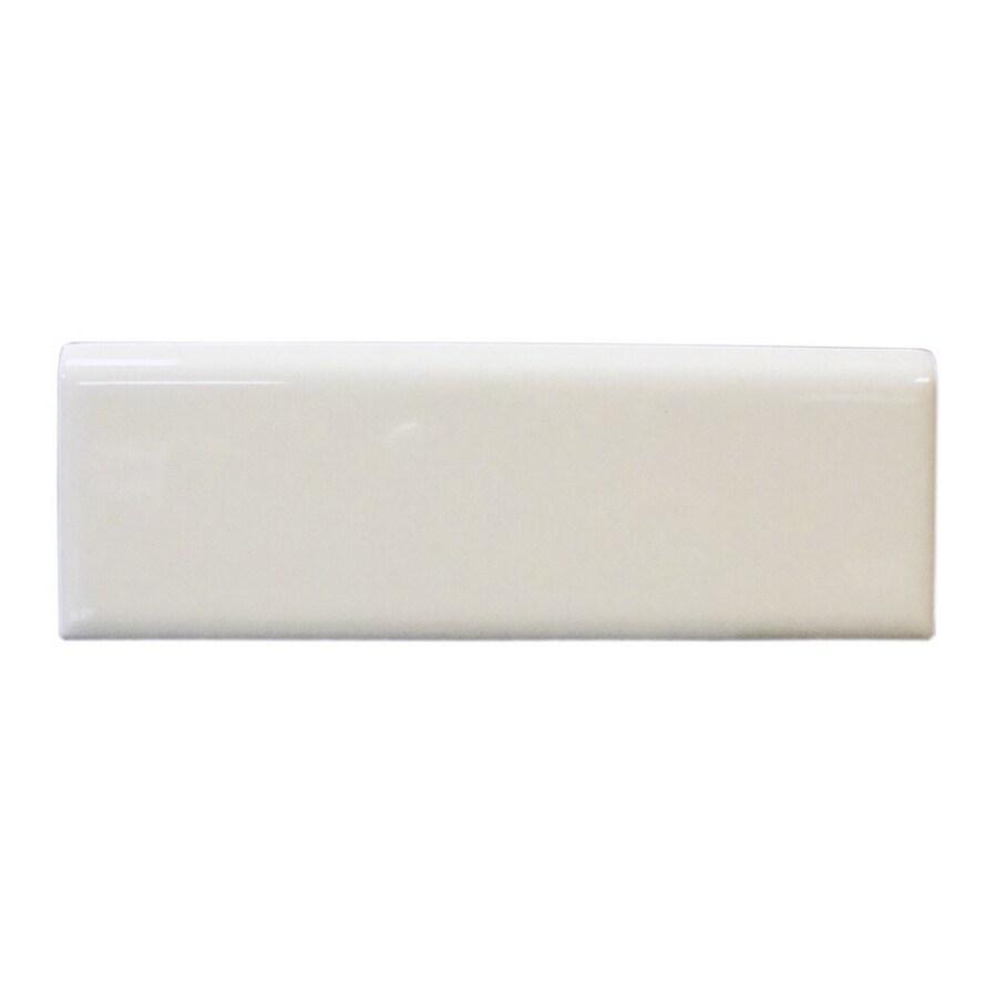 Interceramic 2-in x 6-in Pearl Brite White Ceramic Bullnose Trim
