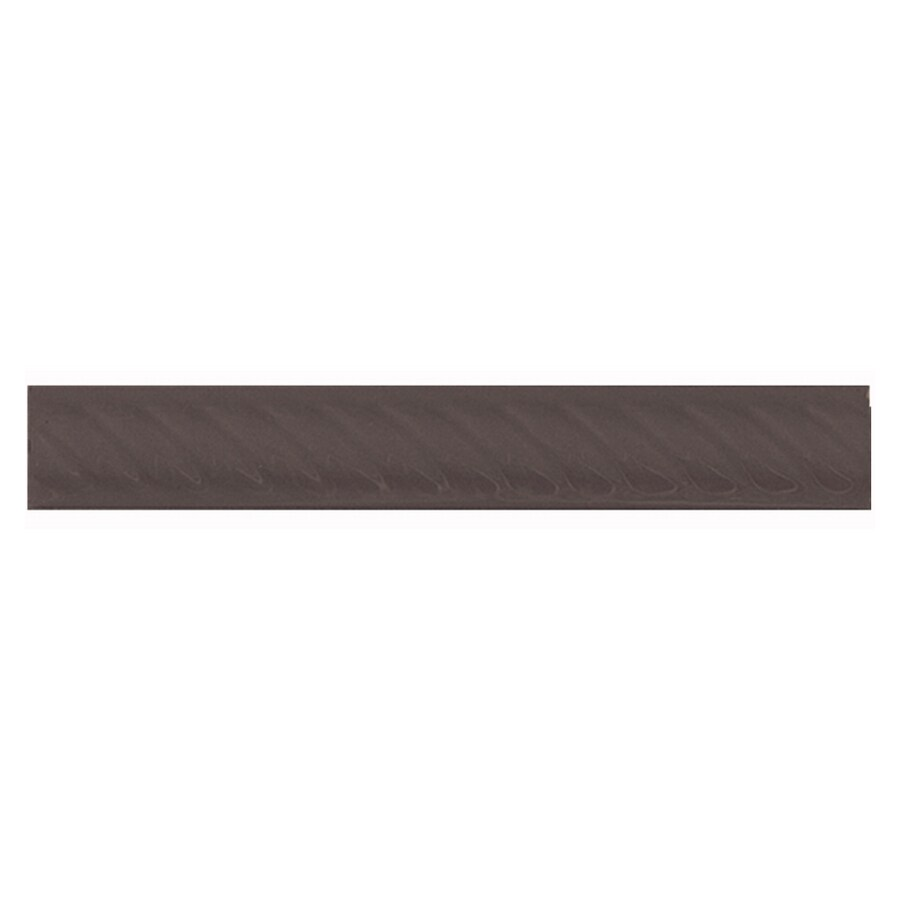 Interceramic Wall Tile Black Ceramic Pencil Liner Tile (Common: 1-1/2-in x 8-in; Actual: 1.17-in x 7.83-in)