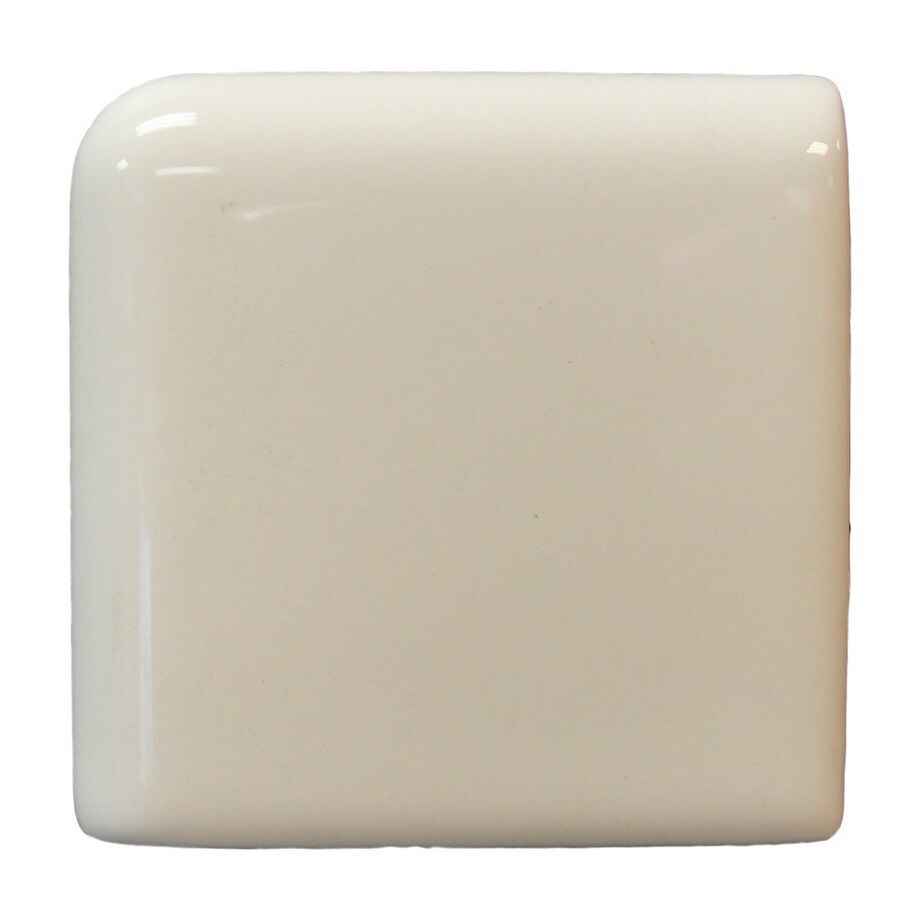 Interceramic Wall Tile Bone Ceramic Bullnose Tile (Common: 2-in x 2-in; Actual: 2-in x 2-in)