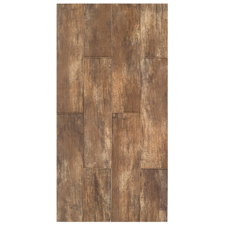 Interceramic Forestland 11-Pack Cypress Porcelain Floor Tile (Common: 6-in x 24-in; Actual: 5.91-in x 23.63-in)
