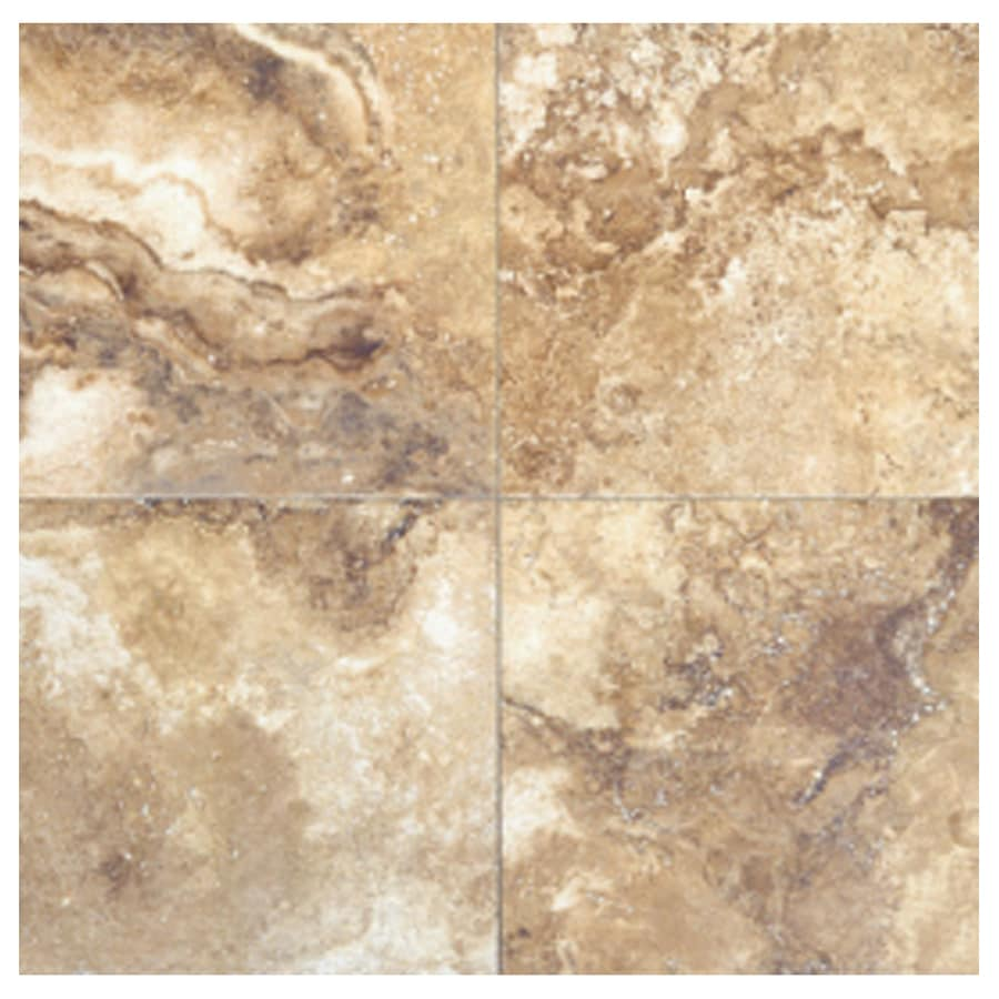 Interceramic Travertino Royal 10-Pack Noce Ceramic Floor Tile (Common: 16-in x 16-in; Actual: 15.74-in x 15.74-in)