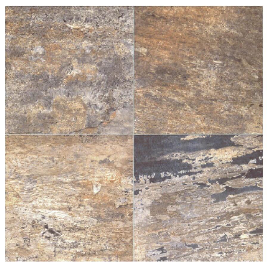 Interceramic Slate Supremo 10-Pack Autumn Ceramic Floor Tile (Common: 16-in x 16-in; Actual: 15.74-in x 15.74-in)