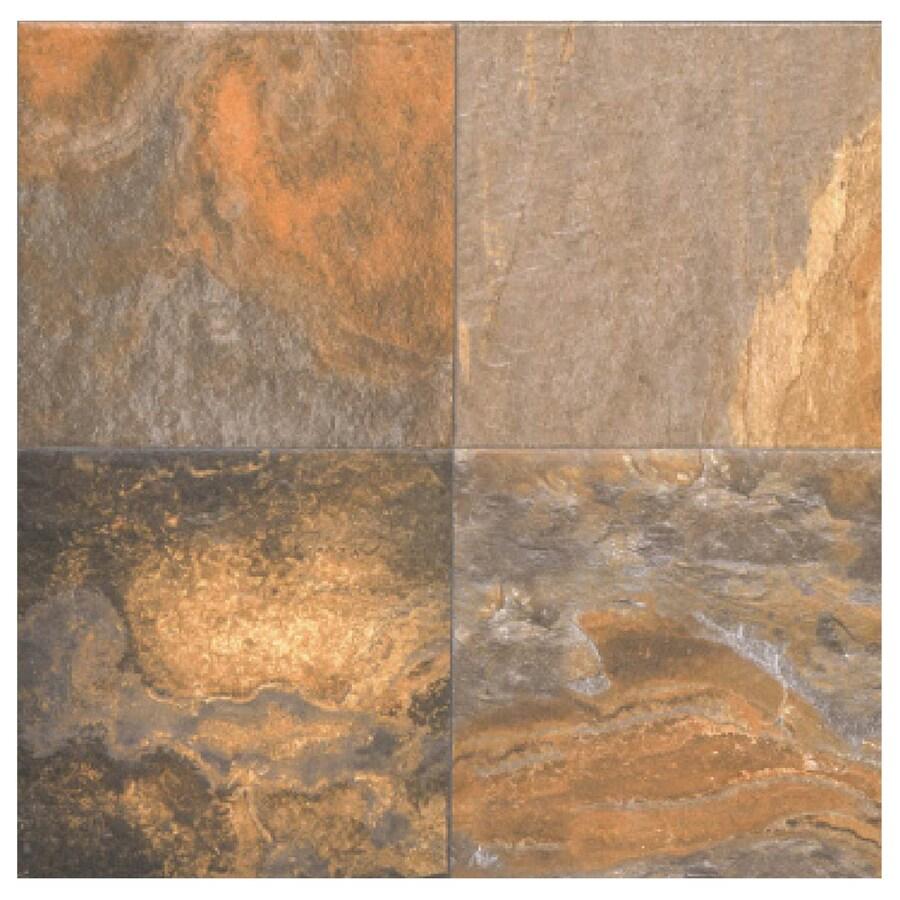 Interceramic Slate Supremo 10-Pack Multicolor Ceramic Floor Tile (Common: 16-in x 16-in; Actual: 15.74-in x 15.74-in)