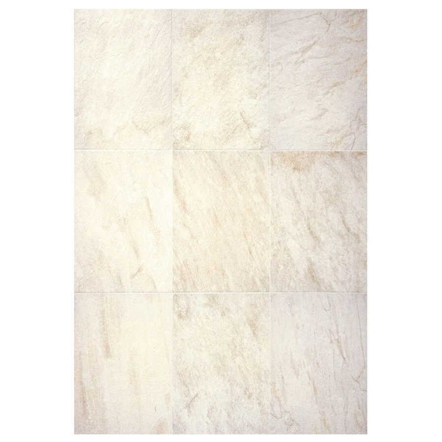 Interceramic Imperial Quartz 6-Pack Ivory Ceramic Floor Tile (Common: 16-in x 24-in; Actual: 15.74-in x 23.6-in)