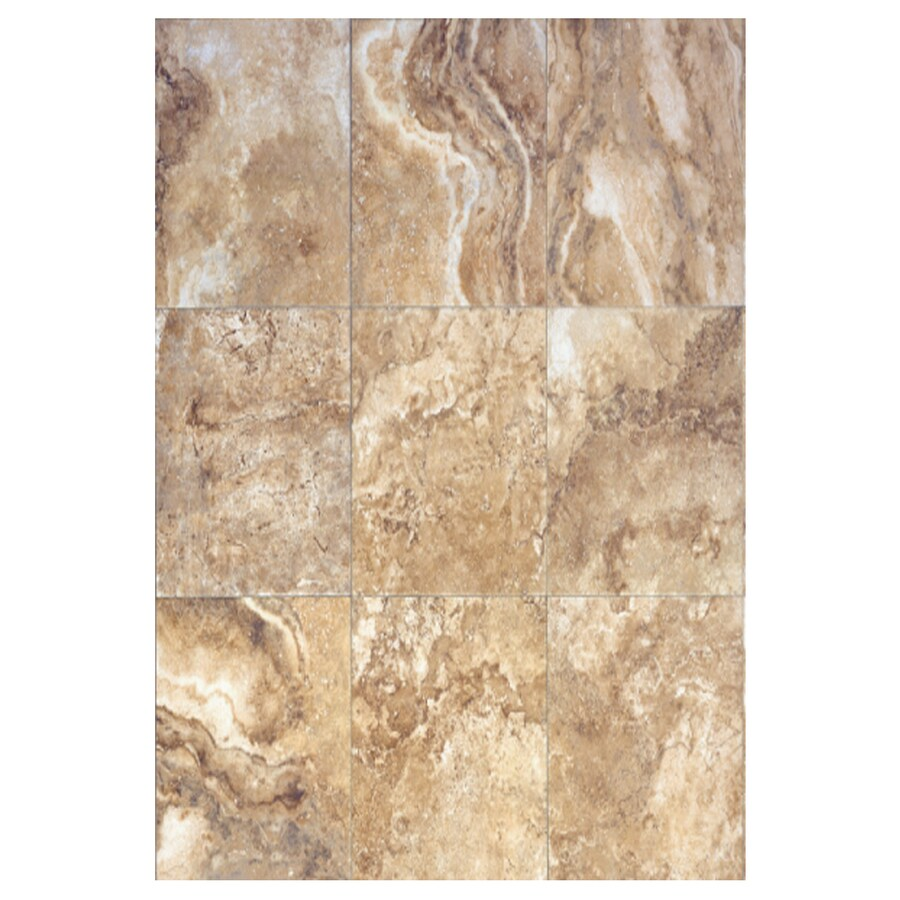 Interceramic Travertino Royal 6-Pack Noce Ceramic Floor Tile (Common: 16-in x 24-in; Actual: 15.74-in x 23.6-in)