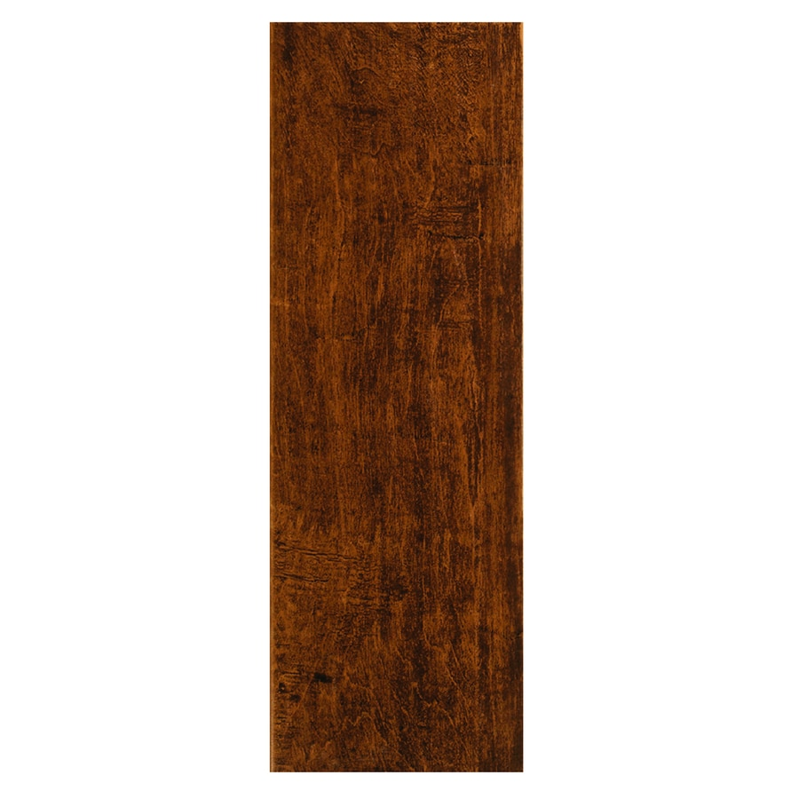 Style Selections Colonial Wood Pecan Wood Look Ceramic Floor Tile (Common: 6-in x 20-in; Actual: 5.91-in x 19.67-in)