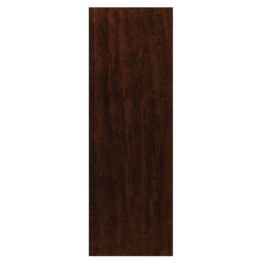Style Selections Colonial Wood Walnut Ceramic Floor Tile (Common: 6-in x 20-in; Actual: 5.91-in x 19.67-in)