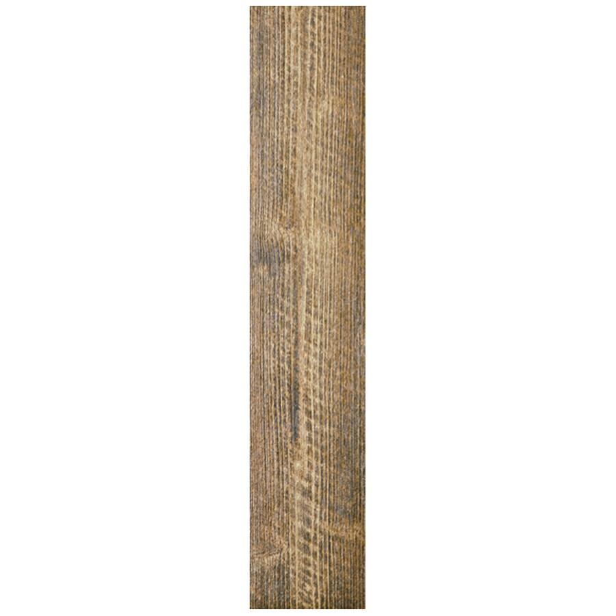Interceramic Sunwood 12-Pack Cowboy Brown Ceramic Floor Tile (Common: 5-in x 24-in; Actual: 4.92-in x 23.6-in)