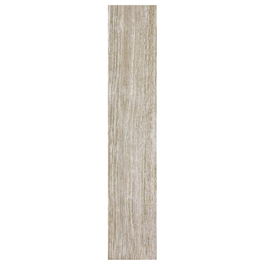Interceramic Sunwood 12-Pack Legend Beige Wood Look Ceramic Floor Tile (Common: 5-in x 24-in; Actual: 4.92-in x 23.6-in)