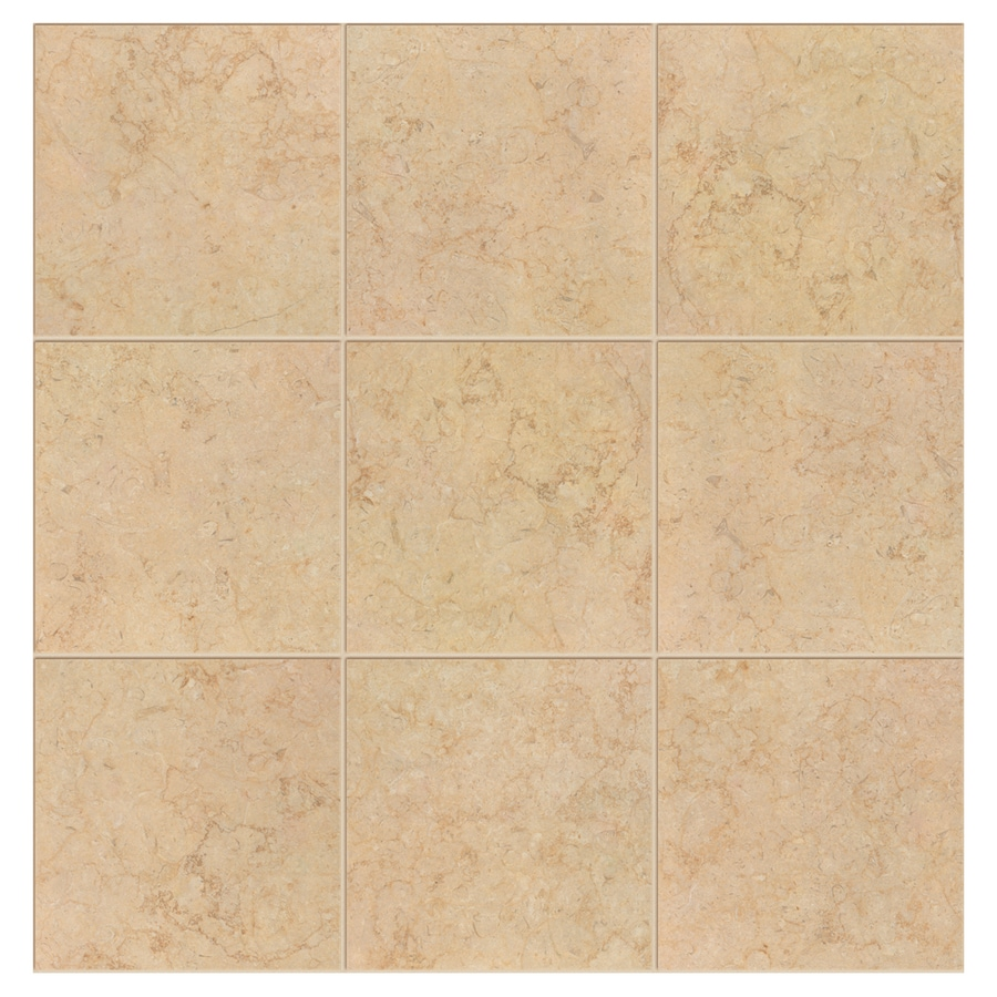Interceramic Sea Stone 14-Pack Fossil Porcelain Floor Tile (Common: 13-in x 13-in; Actual: 13.19-in x 13.19-in)