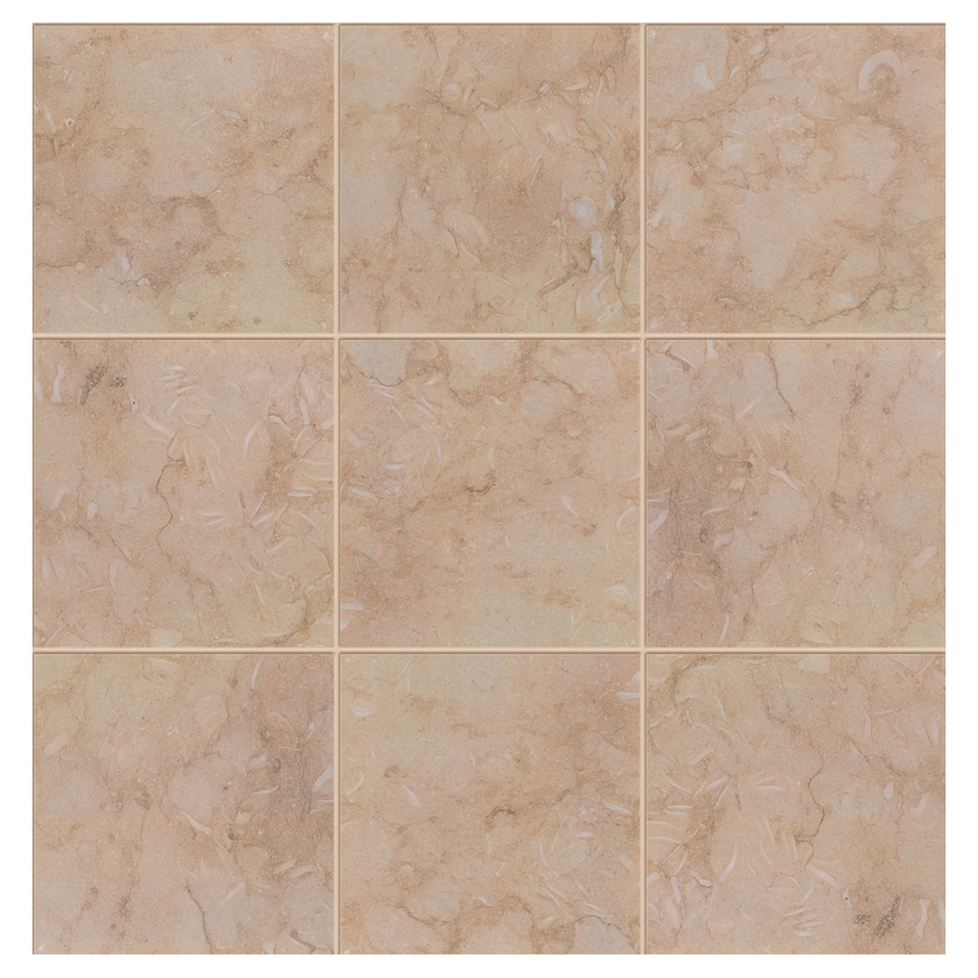 Interceramic Sea Stone 14-Pack Sand Porcelain Floor Tile (Common: 13-in x 13-in; Actual: 13.19-in x 13.19-in)